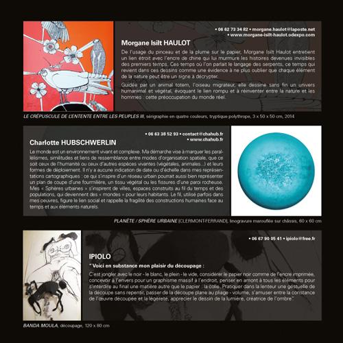 Catalogue exposition Arts en Balade 2015 à l'AMAC - Chamalières